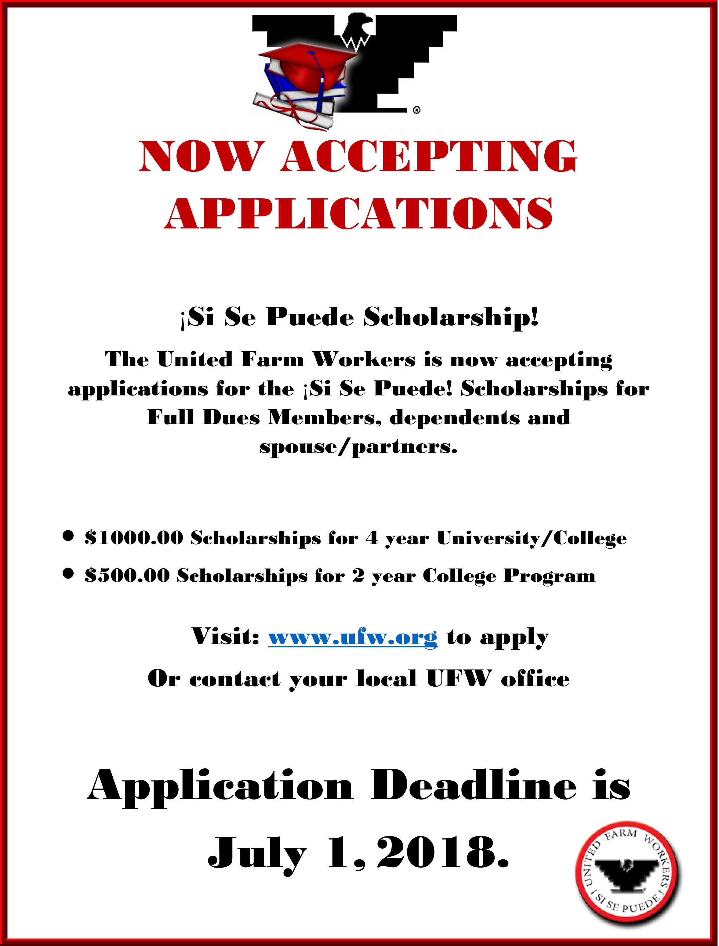 Scholarship Announcement Flyer Ufw border=